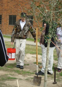 TreesAcadiana encourages schools to participate in Arbor Day plantings year after year. Sometimes a school group will designate their tree as a memorial planting.